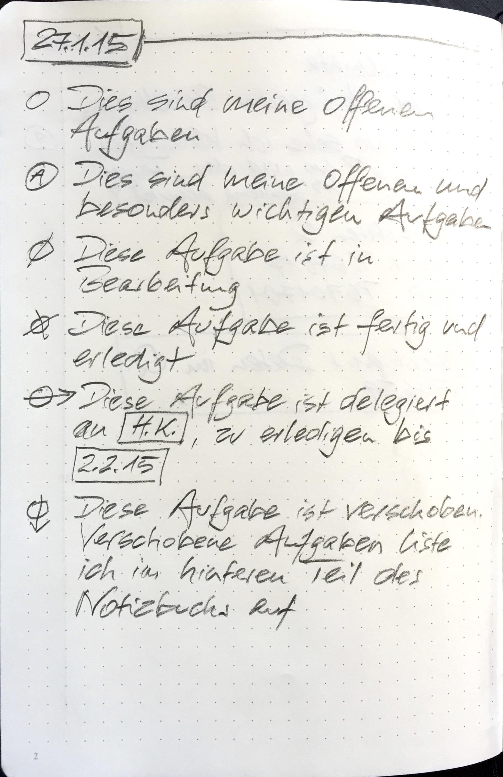Beispiel Notizbuch 2